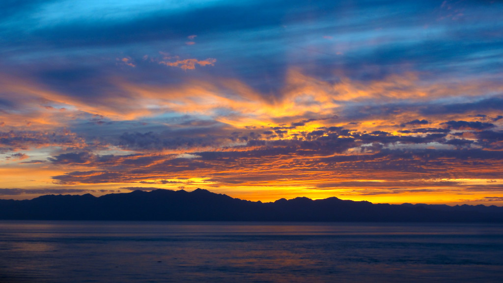 The Baja California Peninsula from Isla Salsipuedes, Gulf of California.